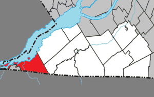 Dundee, Quebec - Image: Dundee Quebec location diagram