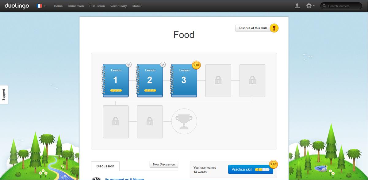 Duolingo viquip dia l 39 enciclop dia lliure for Alif tree french cuisine