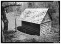 EXTERIOR, GENERAL VIEW FROM REAR - Henry Whitehead Place, Smokehouse, Townsend, Blount County, TN HABS TENN,5-CADCO.V,1A-2.tif