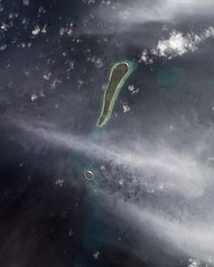 NASA-Bild der Eagle Islands