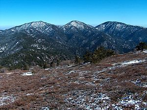 Tehachapi Mountains - Tehachapi Mountains Crest peaks