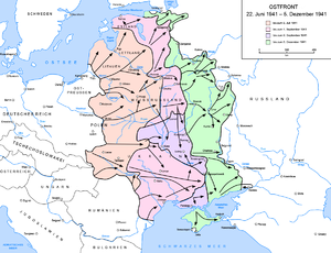 Frontveränderungen vom 22. Juni bis 5. Dezember 1941