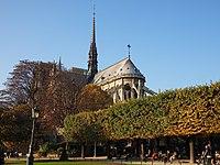 Eastern end of the Notre-Dame de Paris October 2015.jpg