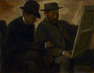 Paul Lafond and Alphonse Cherfils Examining a Painting