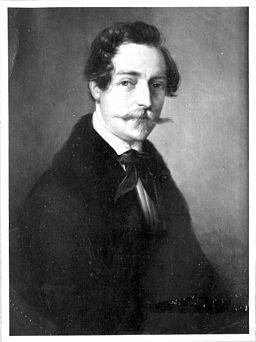 Eduard Rüber Generaldirektionsrat, Architekt 1804-1874, Hochzeitsportrait