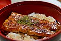 Eel bowl, bowl of eel and rice; 2013.jpg