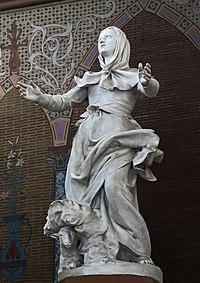 Eglise Sainte-Germaine Statue par Alexandre Falguière 1877.jpg
