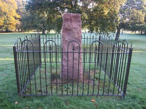 Birkenhead Park - Eisteddfod stone within the Park.