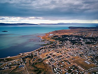 El Calafate - Aerial view of the city in 2018