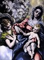 El Greco - The Virgin and Child with St Martina and St Agnes (detail) - WGA10540.jpg