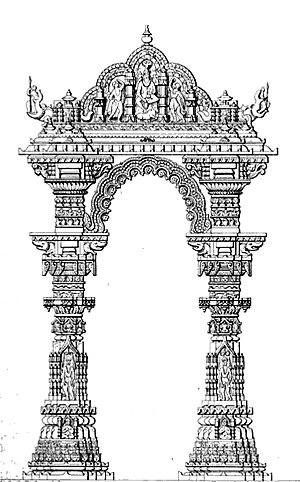 Siddhpur - Elevation of Kirtistambh, Rudra Mahalaya
