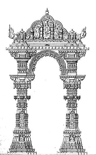 Siddhpur - Image: Elevation of Kirtistambh Rudramahalaya Sidhpur Gujarat India