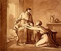 Elijah restores the widow's son to his mother, who greets hi Wellcome L0032274.jpg