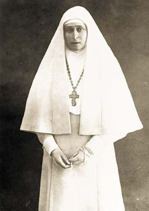 Marfo-Mariinsky Convent - Grand Duchess Elizabeth wearing the monastic habit she designed for the convent.