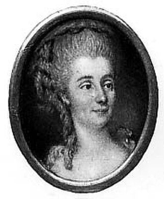 Sophie d'Houdetot - A contemporary portrait of the Countess of Houdetot