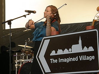 Eliza Carthy - Eliza Carthy performing with The Imagined Village at Camp Bestival – 20 July 2008