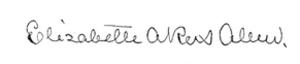Elizabeth Akers Allen - Image: Elizabeth Akers Allen signature