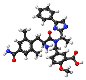 Eluxadoline - Image: Eluxadoline ball and stick model