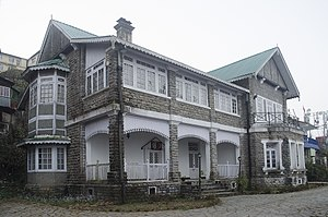 Darjeeling Himalayan Railway - Elysia Place, Kurseong. The headquarters of the DHR