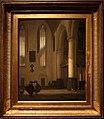 Emanuel de witte, interno di chiesa protestante, olanda 1677.jpg