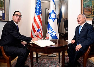 Steven Mnuchin - Mnuchin led the U.S. delegation to Israel in May 2017 for the inauguration of the newly-relocated U.S. Embassy in Jerusalem