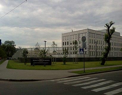 Як дістатися до Посольство Сша В Україні громадським транспортом - про місце