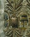 En söndersprättad harskinnsmuff som tillhört Gustav II Adolf (mönsterdetalj) - Livrustkammaren - 48015.tif
