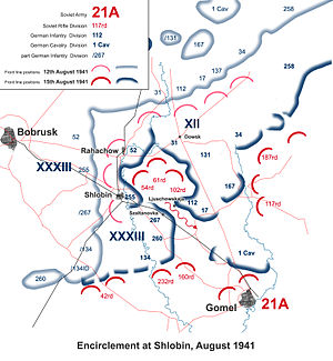 112th Infantry Division (Wehrmacht) - Encirclement battle at Sholbin, August 1941
