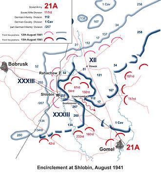 112th Infantry Division (Wehrmacht) - Encirclement battle at Sholbin, August 1941