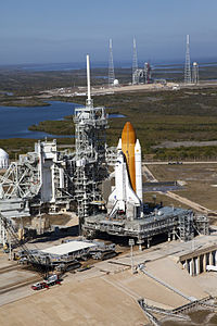 Endeavour STS-133 awaiting rollback to VAB - KSC-2010-5909.jpg