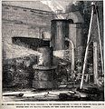 Engineering; a smelting furnace. Wood engraving. Wellcome V0024508.jpg