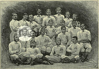 Alfred St. George Hamersley - 1871 England squad with Nomads player Alfred St. George Hamersley highlighted