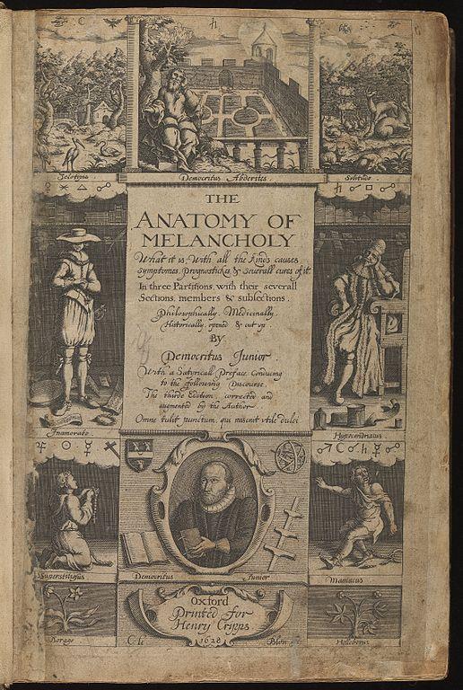 The anatomy of melancholy summary