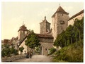 Entrance to Kobolzeller (i.e. Kobolzeller Tor), Rothenburg (i.e. ob der Tauber), Bavaria, Germany-LCCN2002696189.tif