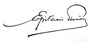 Epitácio Pessoa - Image: Epitácio Pessoa assinatura