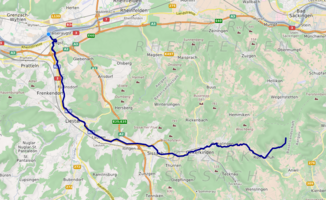 Course of the Ergolz (interactive map)