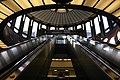 Escalators at Downtown Berkeley BART rotunda, January 2007.jpg