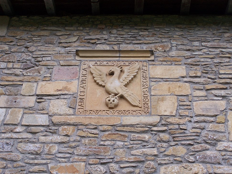 Escudo puerta oeste Colegiata de Santa María de Zenarruza