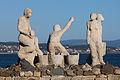 Escultura dedicada ós voluntarios do Prestige. San Vicente do Mar O Grove Galiza 003.jpg