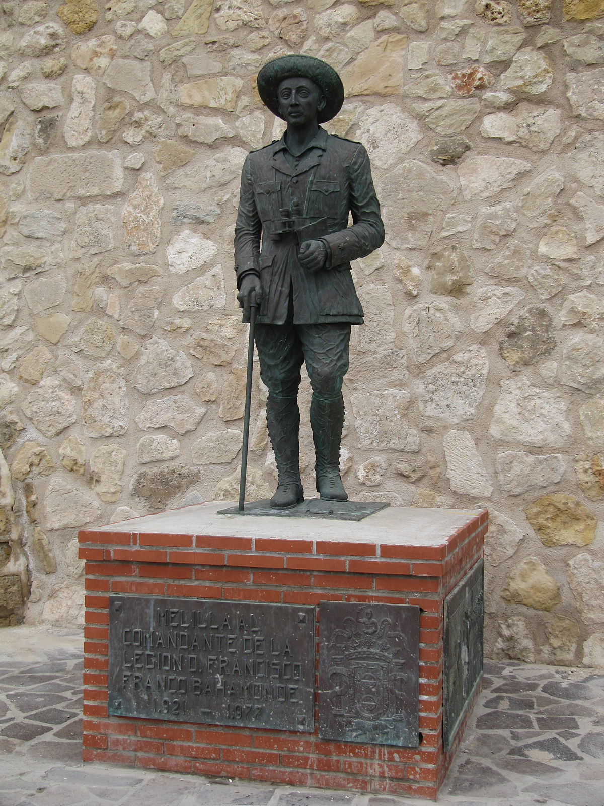 Statue of Francisco Franco, Melilla - Wikipedia