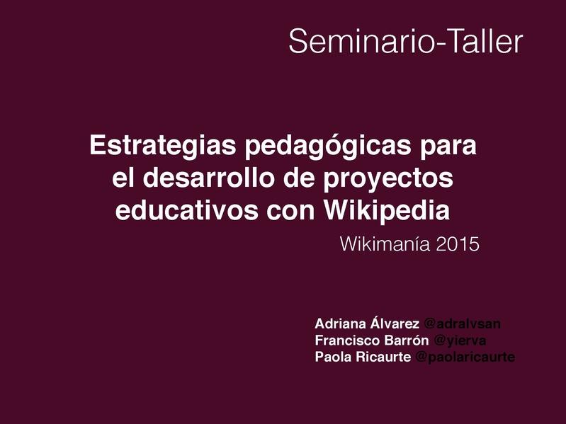 File:Estrategias pedagógicas para el desarrollo de proyectos educativos con Wikipedia.pdf