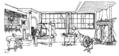 Ett hem Carl Larsson svartvit teckning 09.png