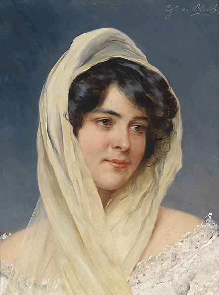 File:Eugen von Blaas Bildnis einer jungen Dame mit Schleier.jpg