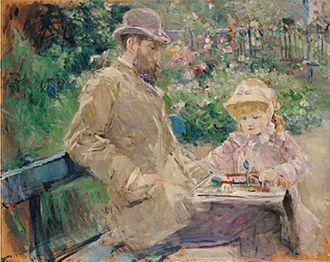 Julie Manet - Image: Eugene Manet and His Daughter at Bougival 1881 Berthe Morisot