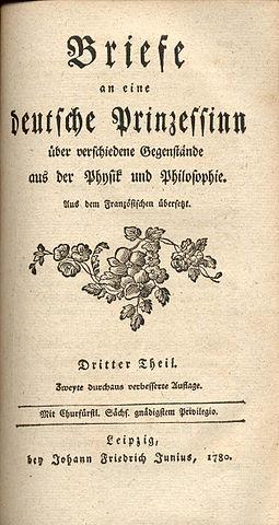 «Письма к немецкой принцессе», третье издание (1780)