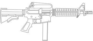 Colt 9mm SMG submachine gun