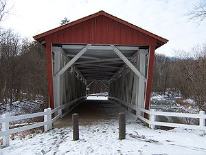English: Everett Road Covered Bridge
