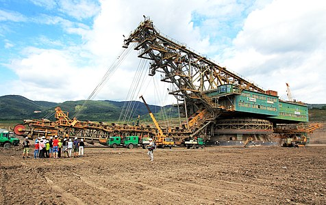 Bucket chain excavator RK 5000.0/R10 in the coal mine Lom ČSA in Czech Republic
