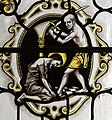 Exeter Cathedral, Stained glass window detail (36896931172).jpg