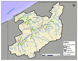 Trail Creek (Lake Michigan) - Sampling locations for Trail Creek Watershed Partnership Water Quality Monitoring Program